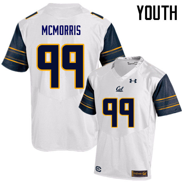 Youth #99 Malik McMorris Cal Bears (California Golden Bears College) Football Jerseys Sale-White